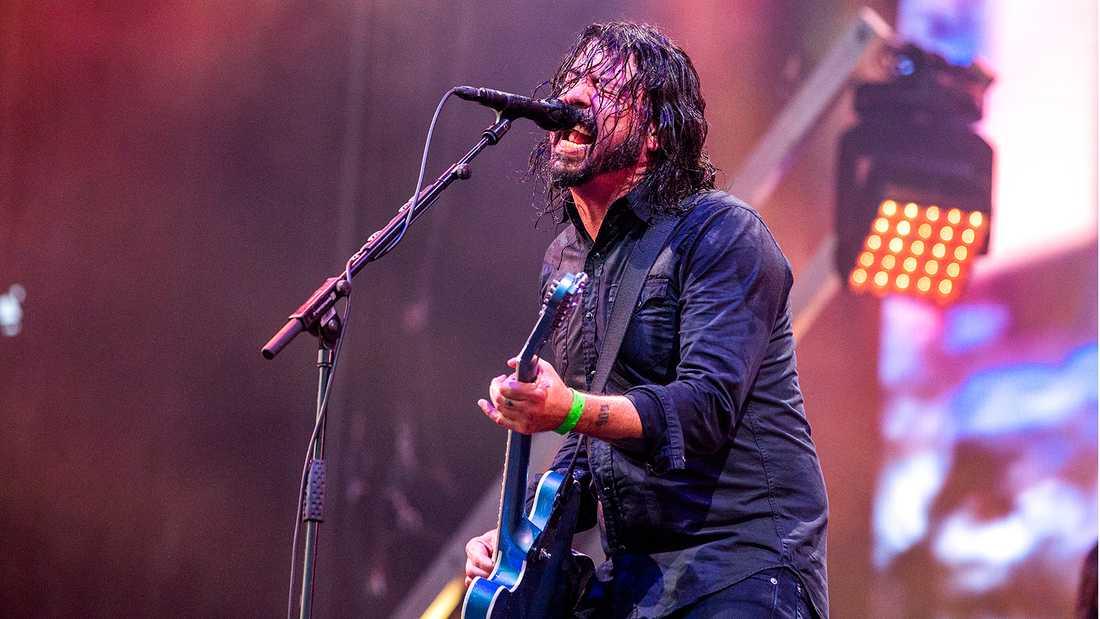 Dave Grohl och Foo Fighters på Lollapalooza.