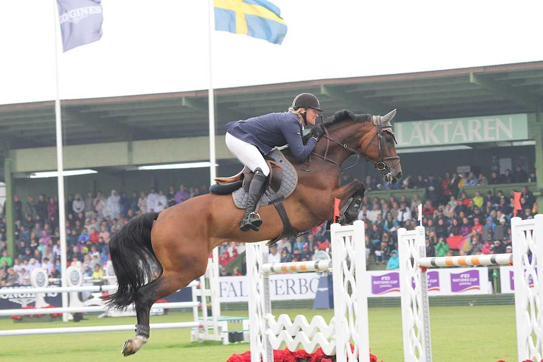 Fredrik Jönsson på hästen Cold Play i Falsterbo förra året.