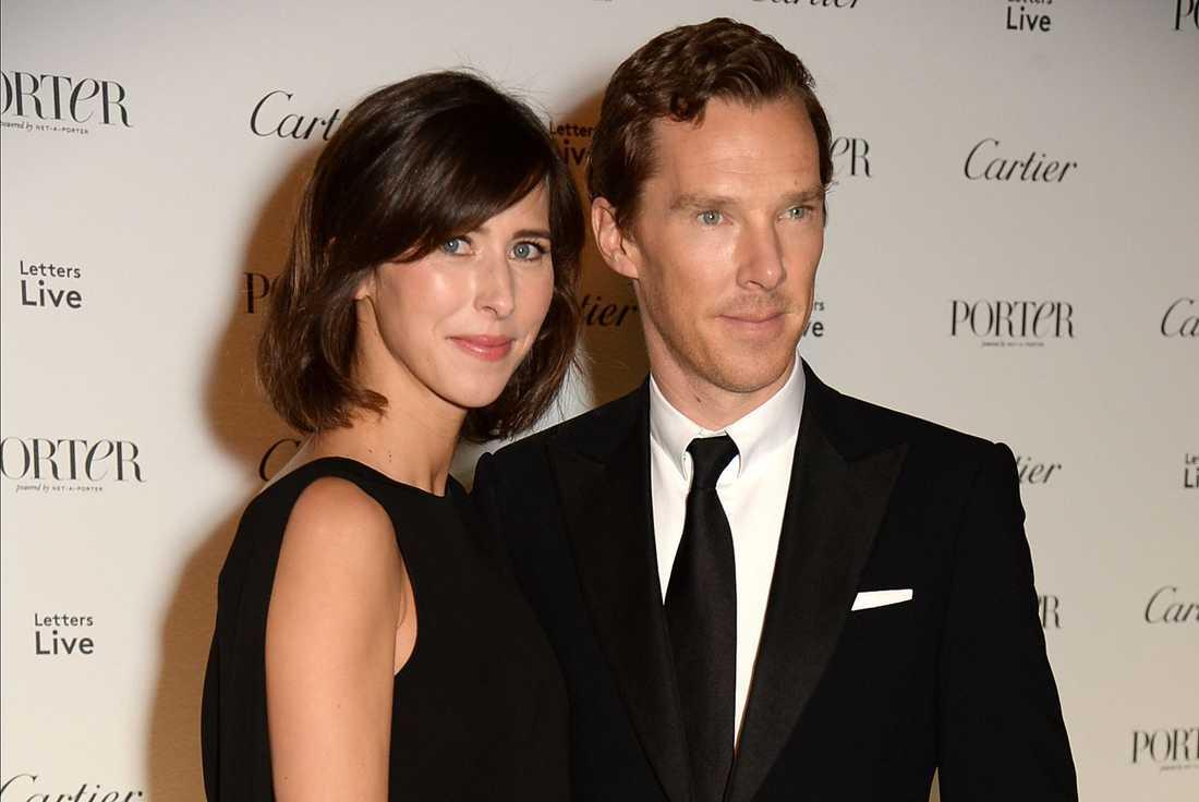 Benedict Cumberbatch med frun Sophie.