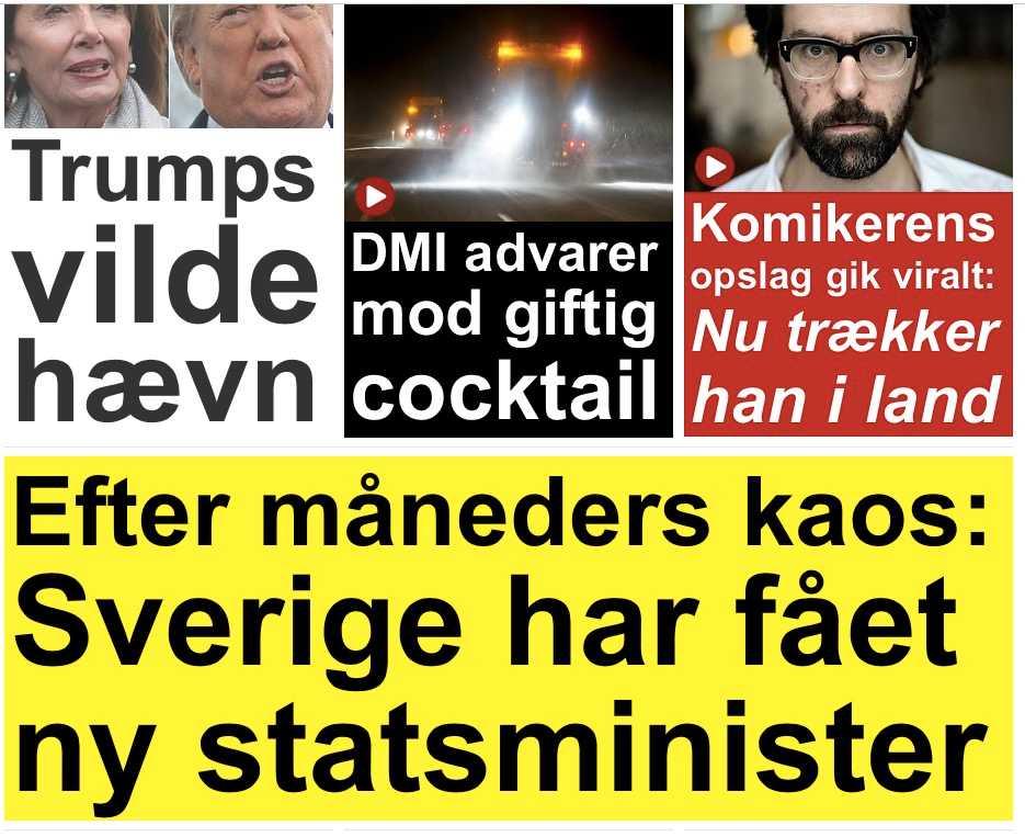 Danska Ekstrabladet konstaterar att kaoset är över.