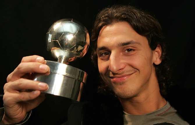 Senhösten 2005 vann Zlatan sin första guldboll. Sedan dess har det blivit tre till, 2007, 2008 och 2009.