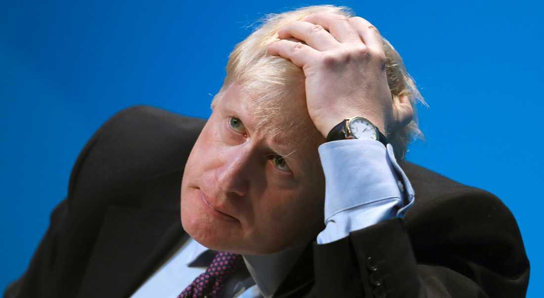 Boris Johnson. Imorgon vet vi om han blir ny ledare för Tories.