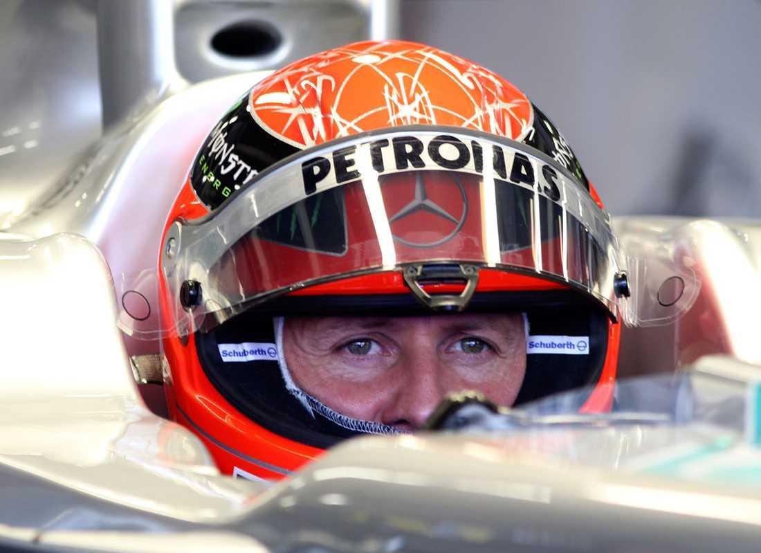 "2011 ""Schumi"" inför Storbritanniens GP."