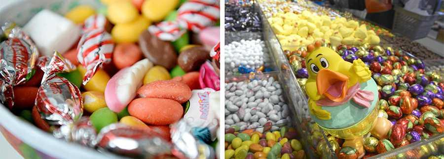 """""""I år har godisförsäljningen ökat"""", säger Camilla Fäldt på godisbutiken Hemmakväll."""