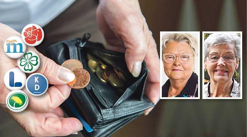 Väljare, låt er inte lockas av vackra ord om bättre pensioner. Det finns inga konkreta och långsiktiga förslag till förbättringar av pensionssystemet från partierna som står bakom pensionssystemet, skriver Eva Eriksson och Berit Bölander.