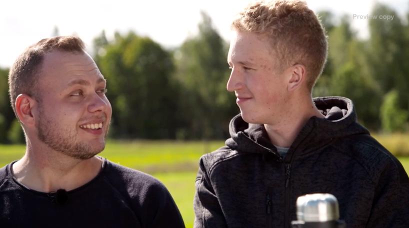 Patrik Fernlund och kärleken Gustav är numera sambo.