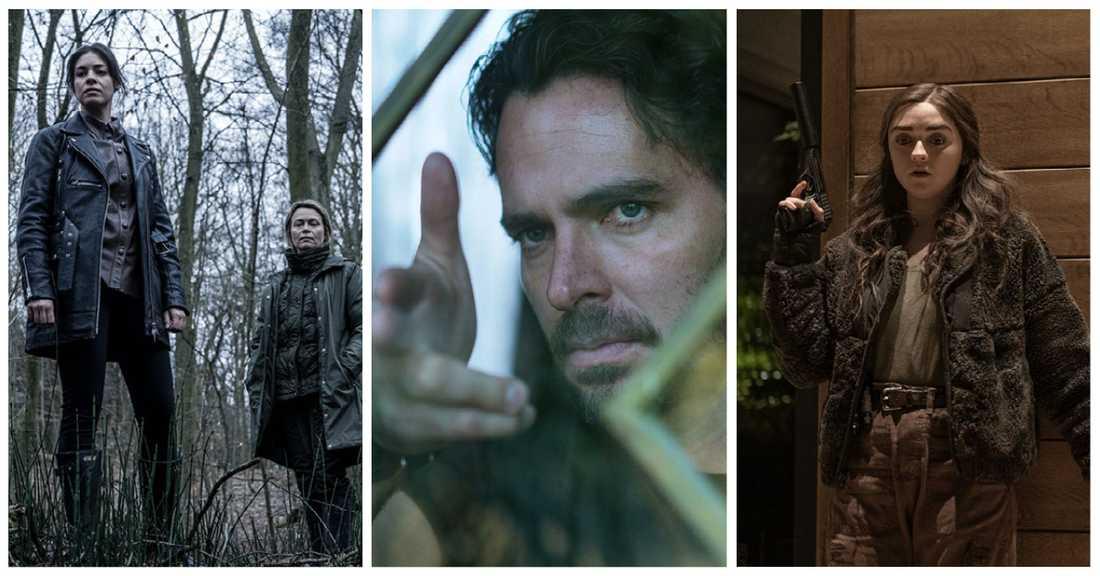 """""""Den som dräper – mörkret"""", """"Vem dödade Sara?"""" och """"Two weeks to live""""."""
