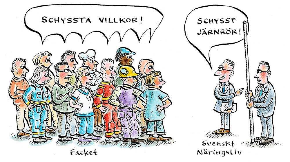 JÄRNGÄNGET SVIKER För den som tittar på hur SD agerar i frågor som påverkar vardagen på svenska arbetsplatser är det ingen överraskning att partiet vill sitta i en M-regering.