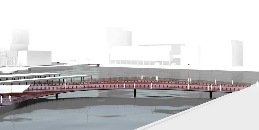 Så här är det tänkt att en av de tre broarna ska se ut. Om fyra år ska den stå klar.