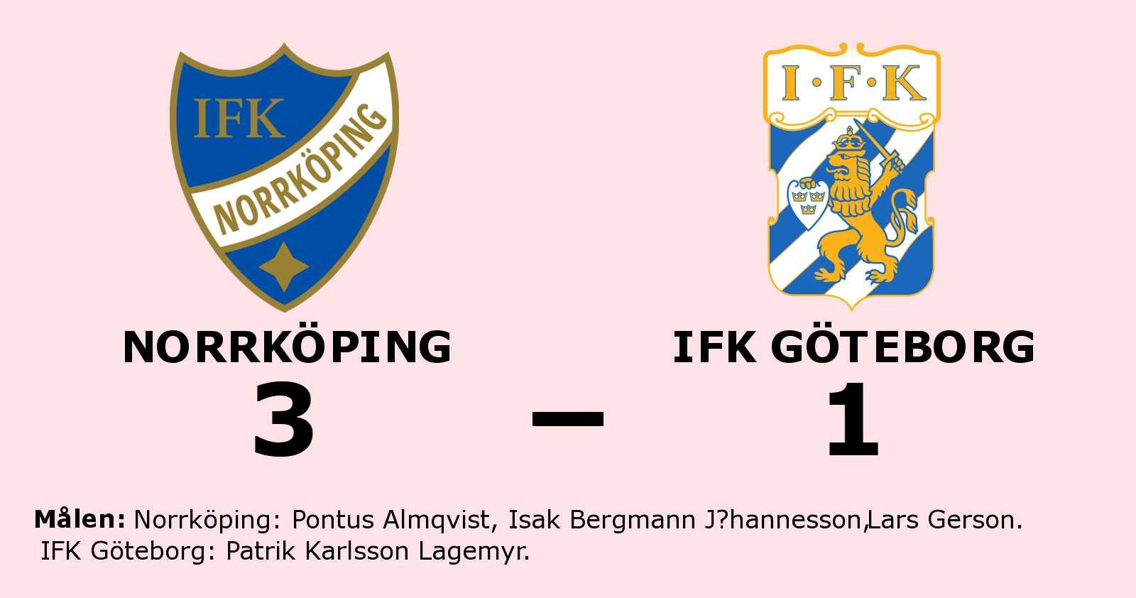 Norrköping klart bättre än IFK Göteborg på Östgötaporten