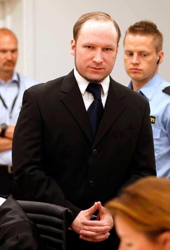 Breivik i rätten.