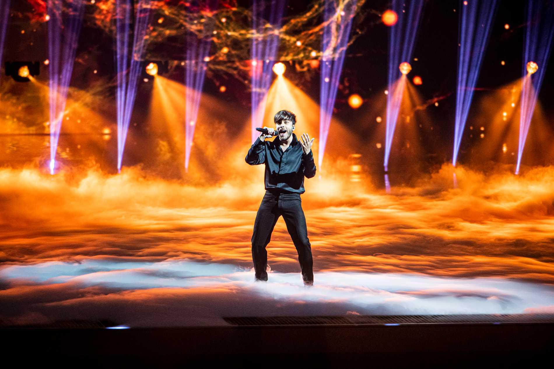 Spaniens Blas Canto nollades av tv-tittarna och blev 24:a i tävlingen