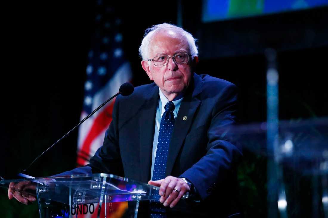 Den demokratiske presidentaspiranten och Vermontsenatorn Bernie Sanders.