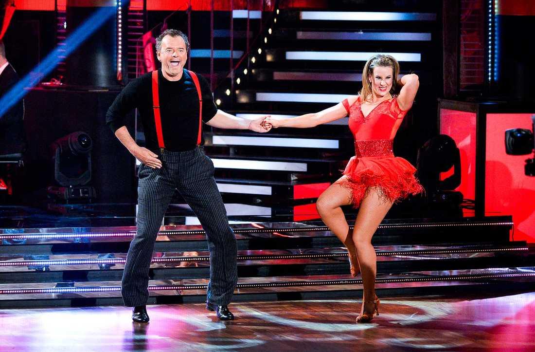 """Cecilia Ehrling dansade med Steffo Törnquist när """"Let´s dance"""" firade 10 år."""