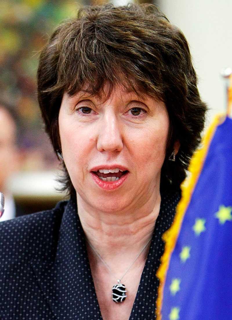 Catherine Ashton.