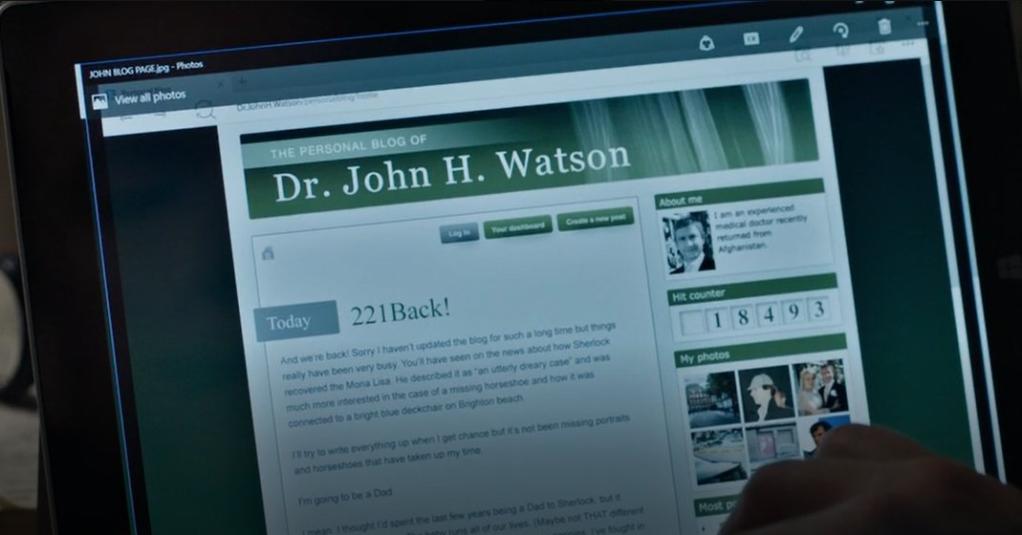 Watson sitter glatt och smattrar på tangentbordet, men till ingen nytta då det inte är en bloggsida som är uppe, utan en bildfil.