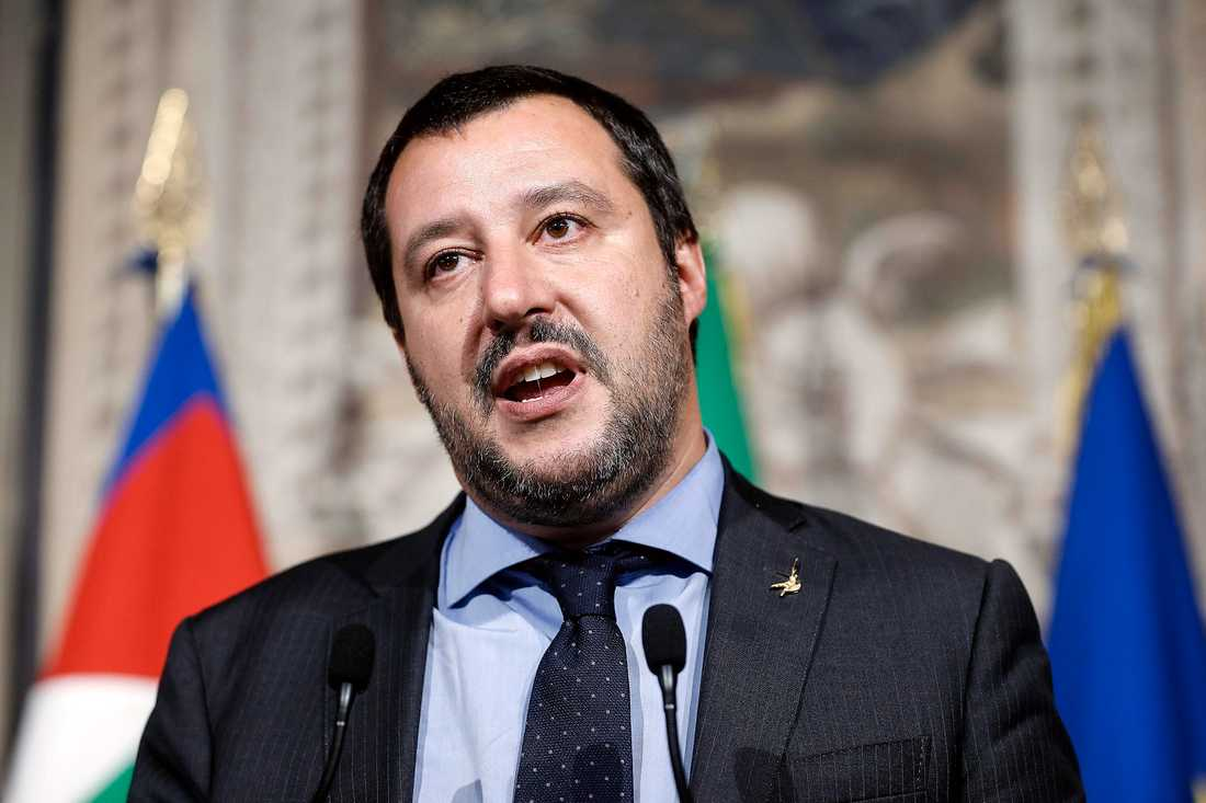 Italienska Lega Nords partiledare Matteo Salvini.