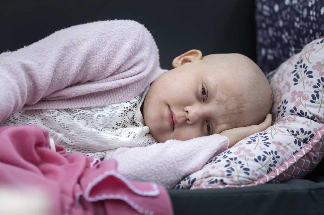 Matilda, 10, är svårt sjuk i cancer.