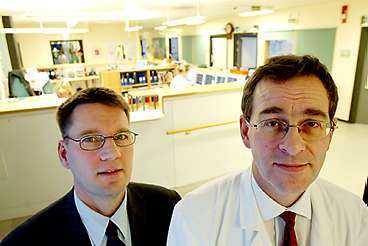 Projektledare Anders Helldén och studierektor Hans Berglund konstaterar att läkarkrisen delvis har avhjälpts tack vare Stockholmsprojektet.