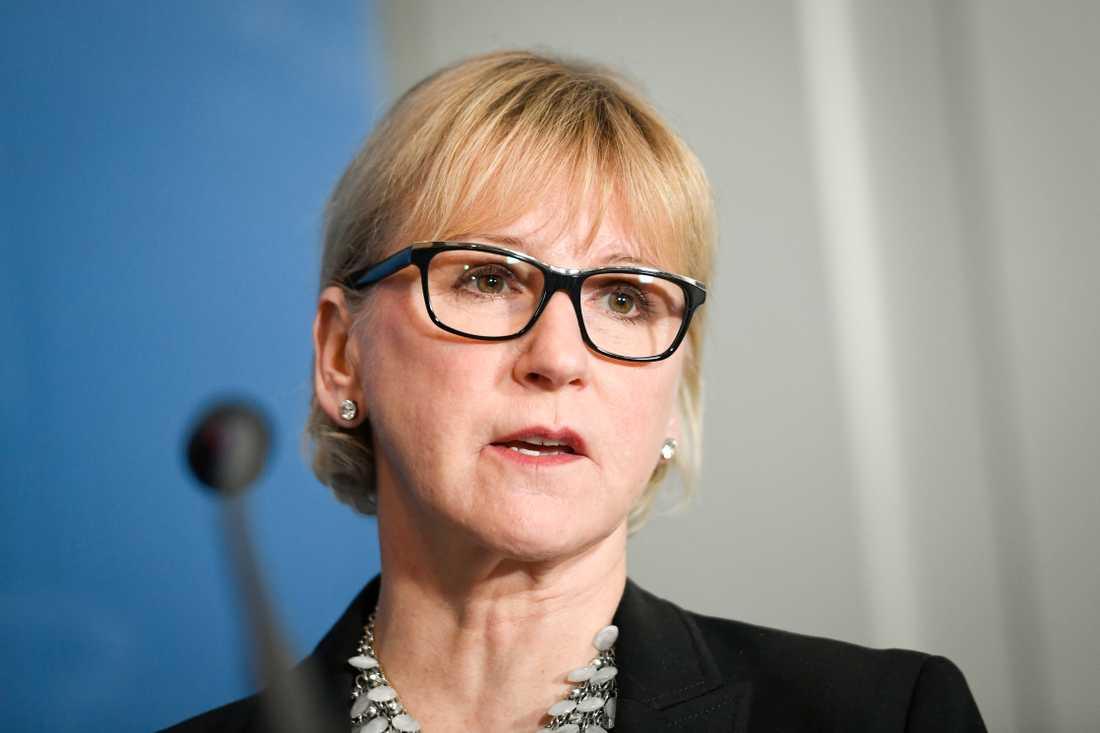 Utrikesminister Margot Wallström (S) deltar i IS-mötet i Washington DC. Arkivbild.