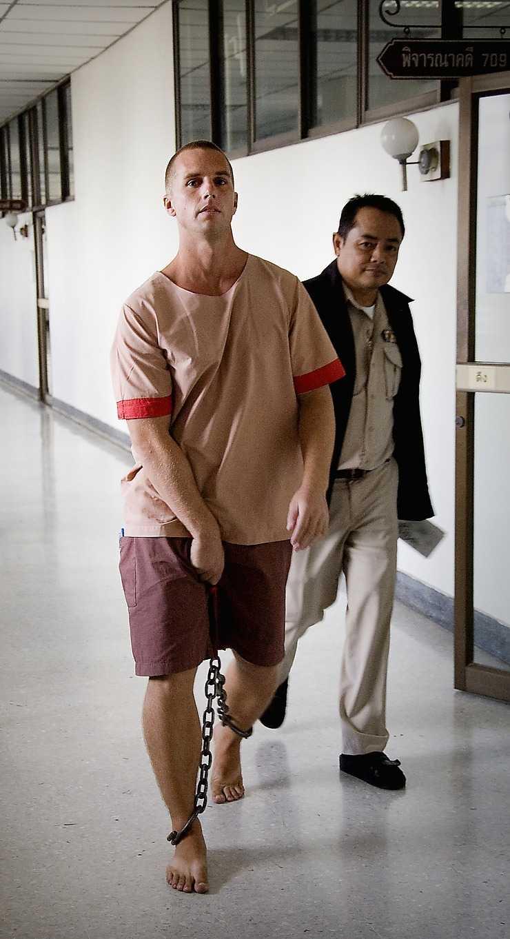 Kim Eriksson Sirawan under tiden i thailändskt fängelse.