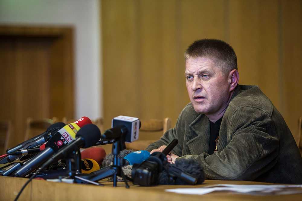 Vjatjeslav Ponomarev, självutnämnd prorysk borgmästare i Slovjansk.