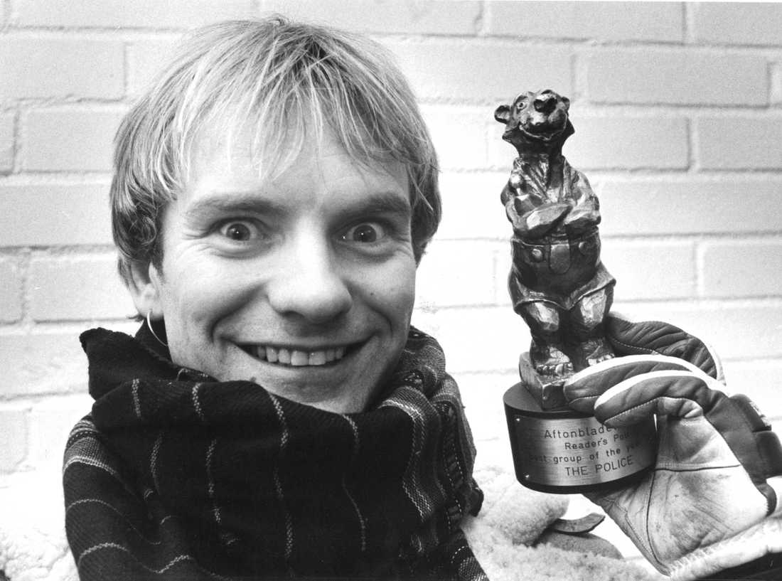 Aftonbladet-bekantingen Sting, som år 1982 tilldelades Rockbjörnen.