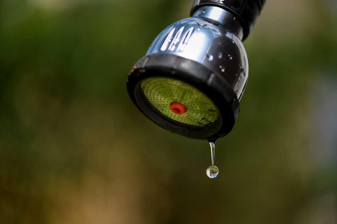Vattenbrist är en följd av värmen.