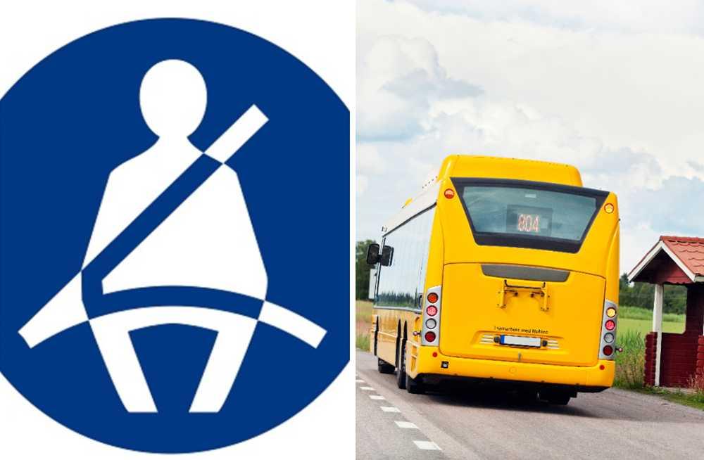 1 oktober skärps reglerna för bältesanvändning på bussar.