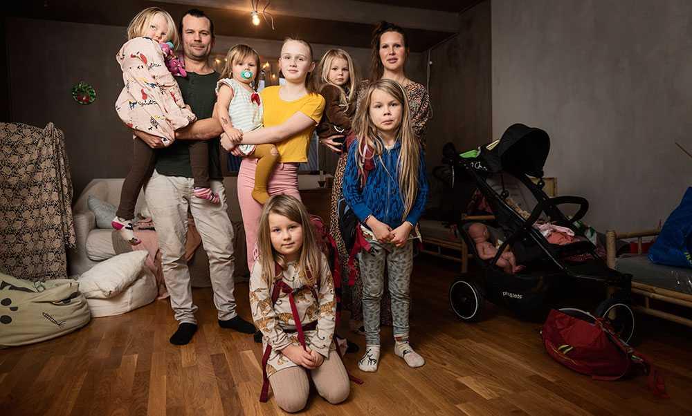 Familjen Holmqvist planerar att resa jorden runt med sina sex barn.