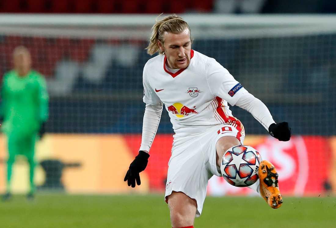 Emil Forsbergs Leipzig kan behöva flytta åttondelsfinalen mot Liverpool till Budapest. Arkivbild.