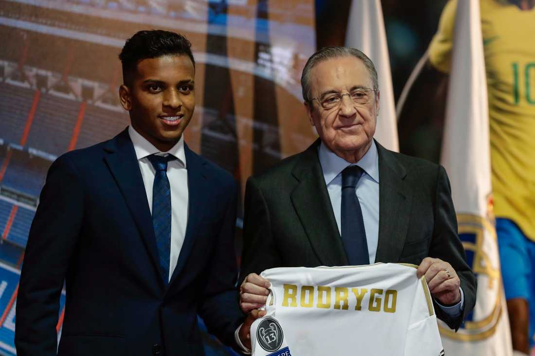 Rodrygo och Florentino Perez.