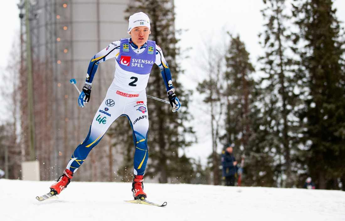 Lin Svahn under interna sprinttävlingen i Östersund.