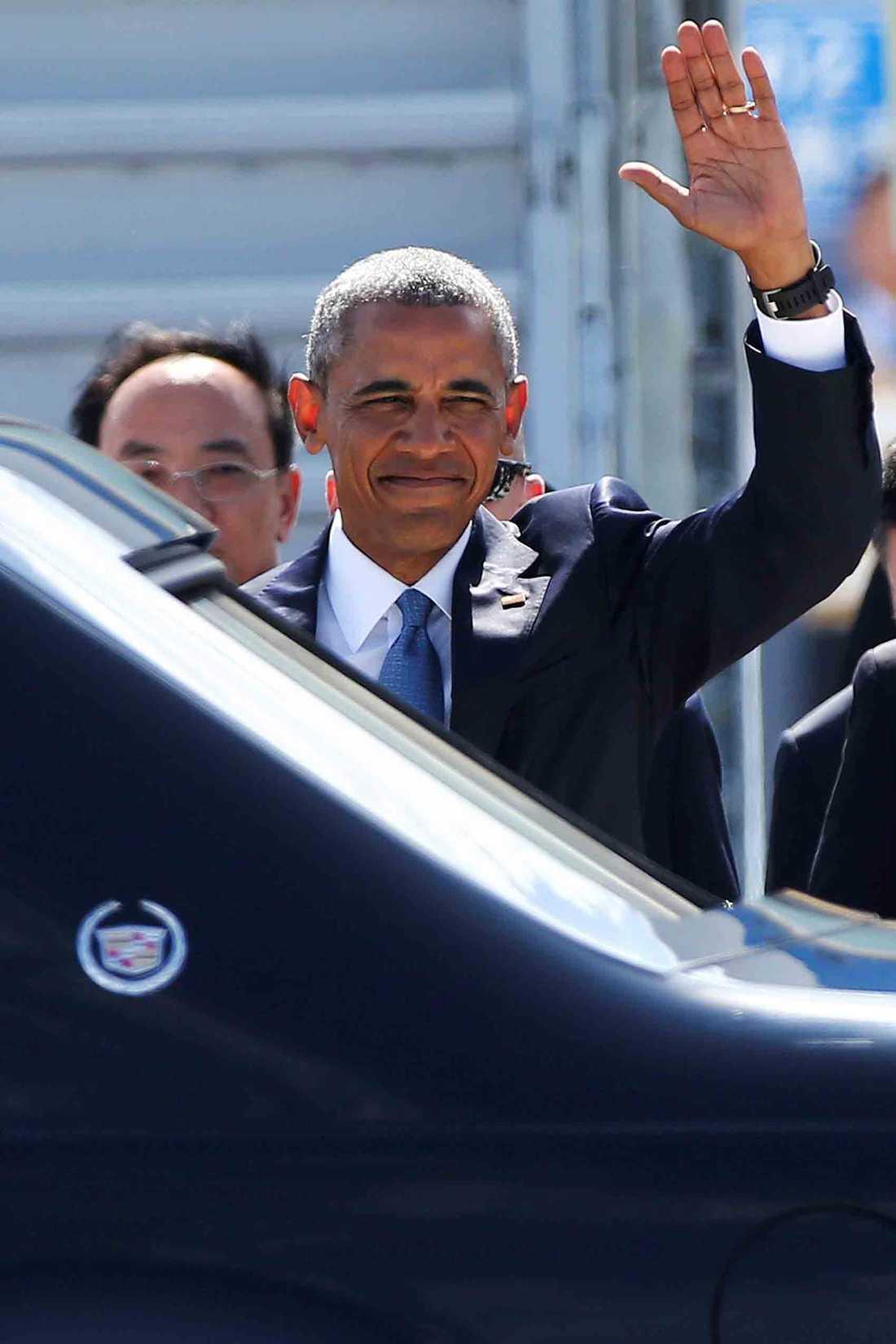 Obama anländer till Kina för G20-toppmötet.