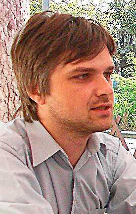Jurij Tkatjev, journalist vid nättidningen Timer.
