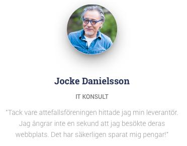 På Attefallsföreningens hemsida heter mannen Jocke Danielsson och är it-konsult.