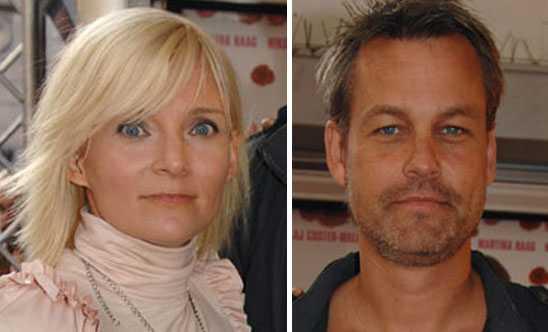 """Henrik Schyffert, 44, och Bea Uusma Schyffert, 46. Gifte sig 1996 och har två söner tillsammans. Trots skilsmässoansökan är makarna fortfarande ett par. """"Nu ska vi prova ett annat sätt att vara ihop och bli särbos"""", kommenterade paret i ett gemensamt uttalande till Nöjesbladet."""