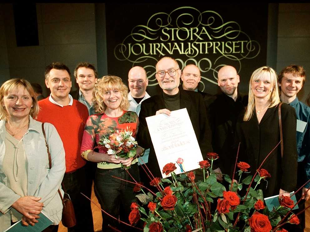 År 2000. Aftonbladet.se delad vinnare av Stora Journalistpriset.