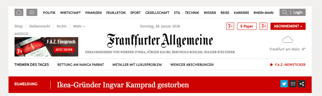 Frankfurter Allgemeine Zeitung.