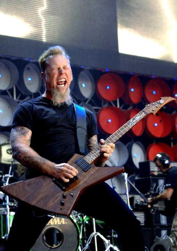 JA! En svensk heter Metallica. Här James Hetfield, sångare i bandet med samma namn.