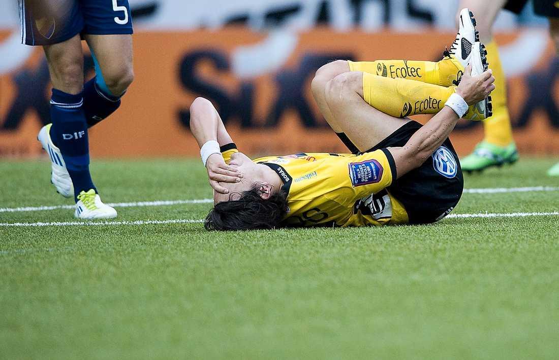 Ishizaki missar bortamatchen mot AIK.