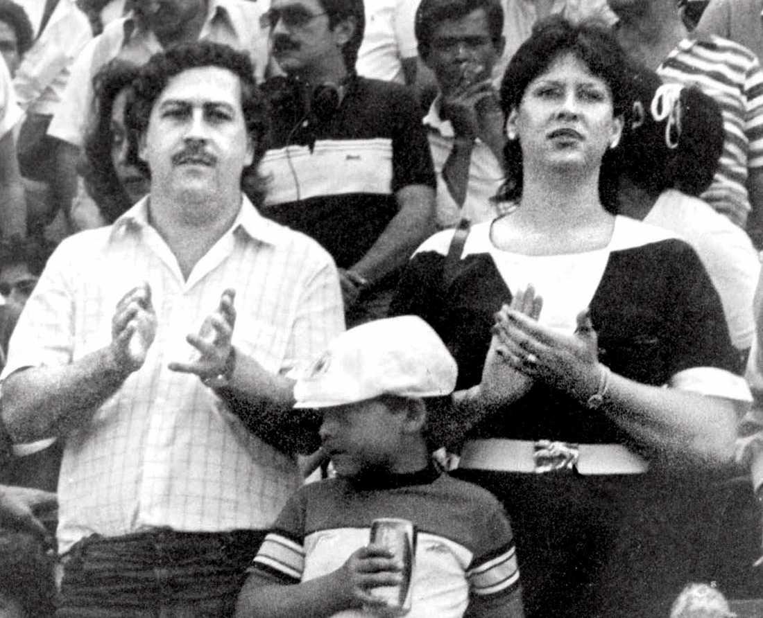 Pablo Escobar, hans fru Maria Henao och deras son Juan Pablo.