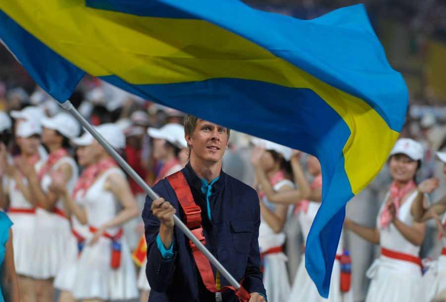 OS I PEKING 2008 Tyvärr blev det dock inget tävlande i Peking heller – men det hindrade honom inte från att vara Sveriges fanbärare vid invigningen.
