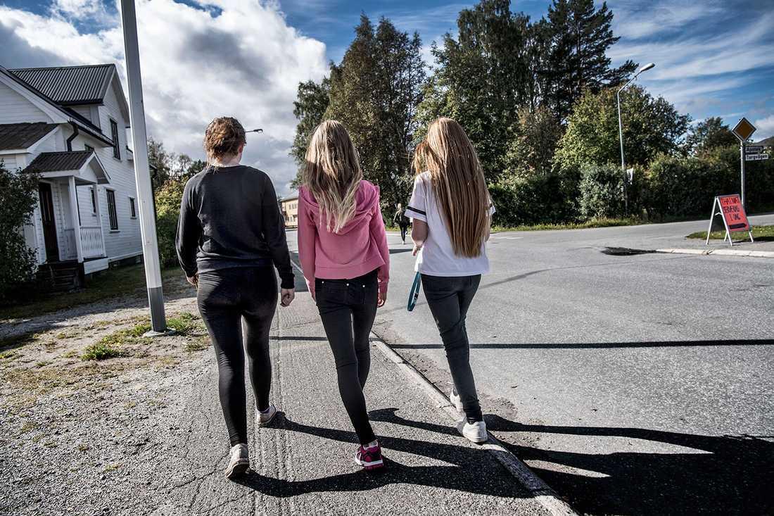 Fjällsjö Nyheter påstod att tonårsflickor hade blivit sexuellt trakasserade av en grupp flyktingpojkar i Backe.