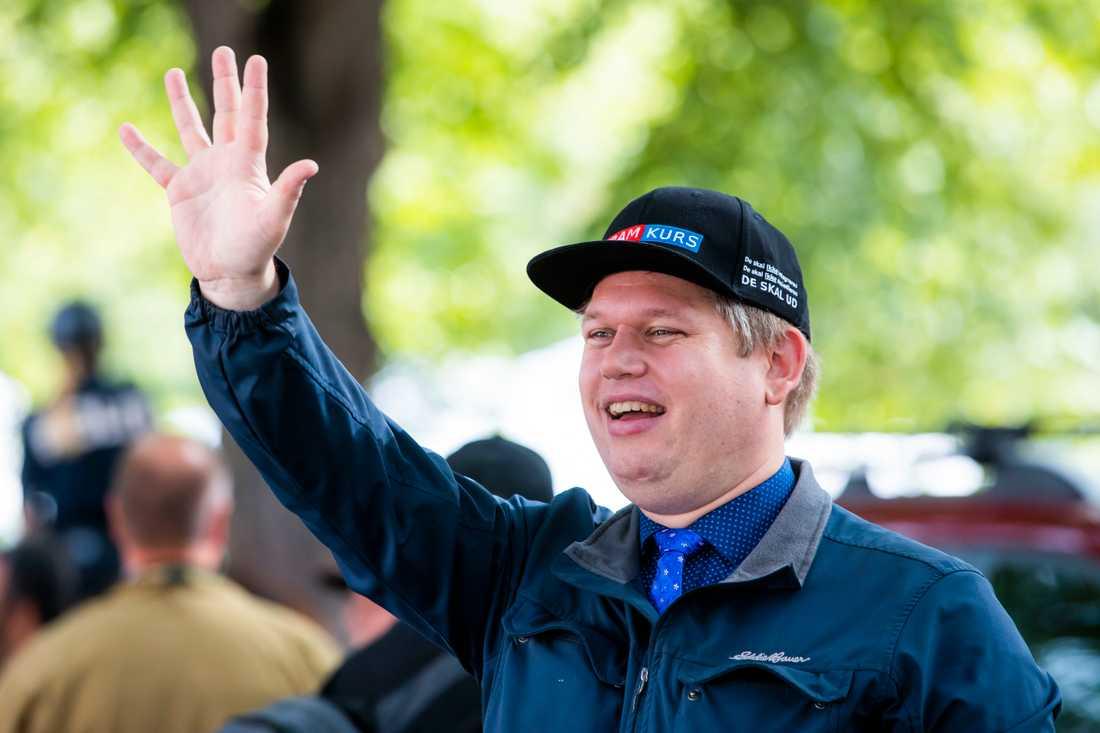 Rasmus Paludan, partiledare för danska högerextrema Stram kurs.