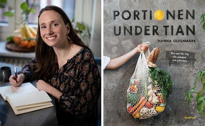 """Hanna Olvenmark, aktuell med boken """"Portionen under tian – Äta ute""""."""
