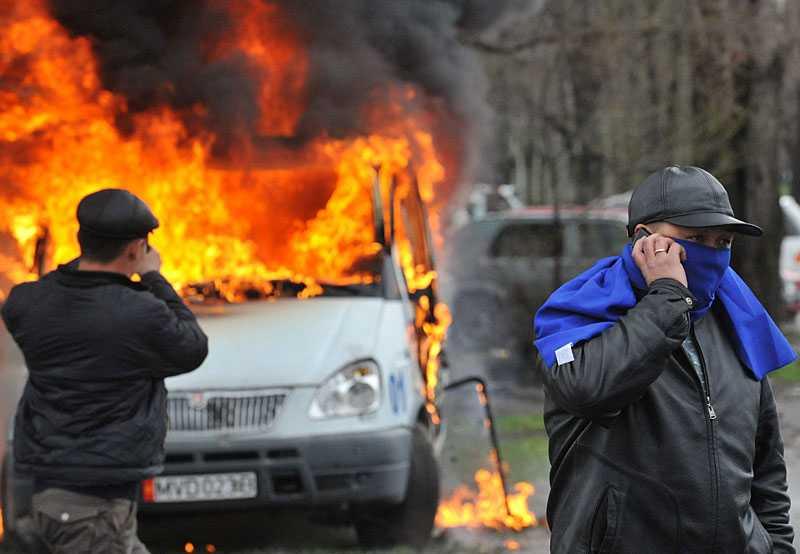 Demonstranterna har intagit landets parlament och tagit kontroll över landets tv-sändningar. Klicka på bilderna för större format!