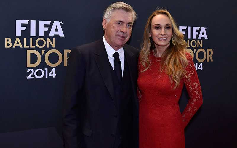 Real Madrids tränare Carlo Ancelotti med frun Luisa.