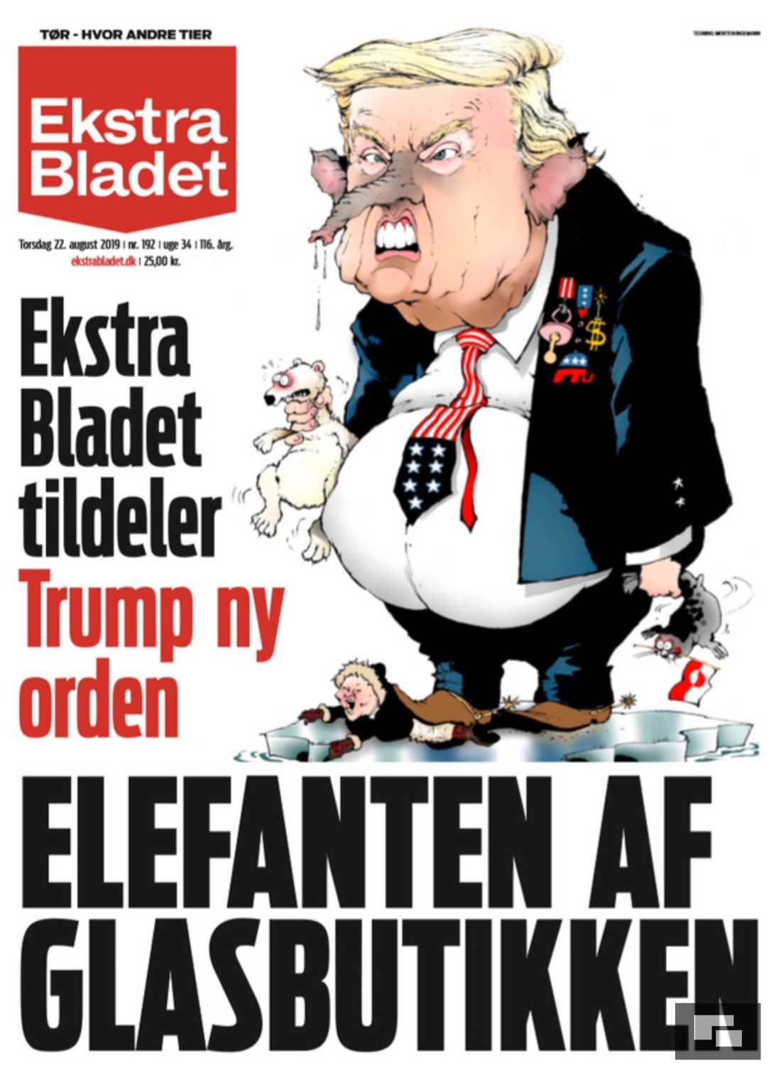 Tidningen Ekstra Bladets förstasida.