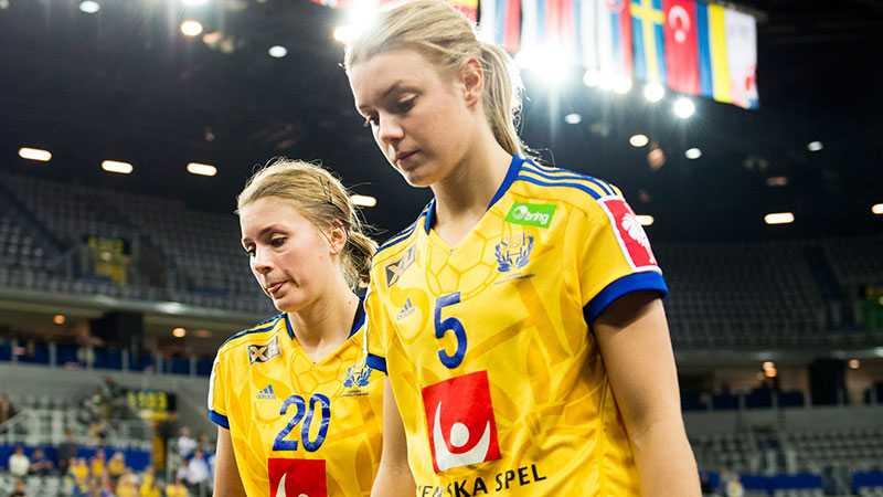 Sveriges Isabelle Gulldén och Hanna Fogelström.
